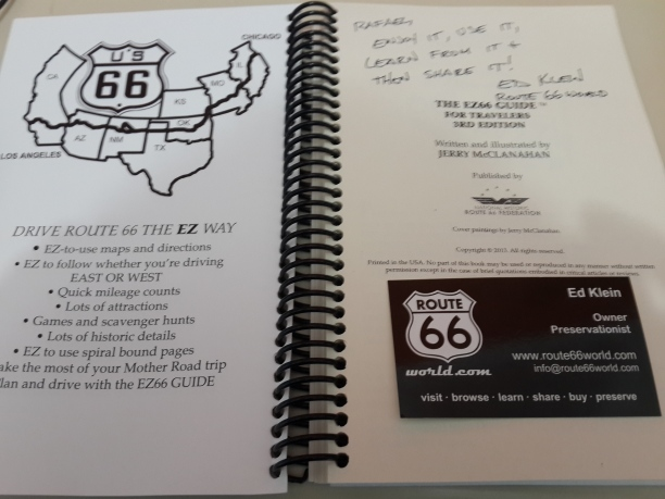 Um presente vindo do Route 66 World. [A gift from the Route 66 World.]