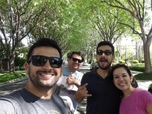 Rafael, André, Victor e Lívia