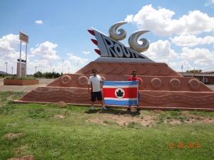 Route 66 sculpture