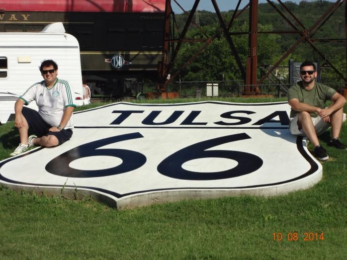 Tulsa 66 shield at the Route 66 Villiage